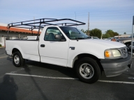 Used Orange County 2002 Ford F150 Long Bed Pickup Truck Rack and Boxes